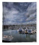 Gipsy Moth Iv At Milford Haven Marina Fleece Blanket