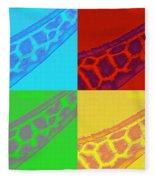 Giraffe Pop Art Fleece Blanket