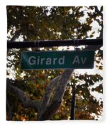 Girard Avenue In Philadelphia Fleece Blanket