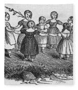 Girls Playing, 1844 Fleece Blanket