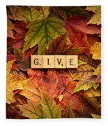 Give-autumn Fleece Blanket