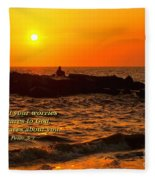 Give Your Cares To God Fleece Blanket
