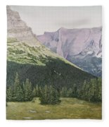 Glacier National Park Montana Fleece Blanket