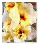 Gladiolus Mirage Fleece Blanket