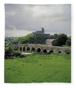 Glanworth Bridge, Funshion River, Co Fleece Blanket