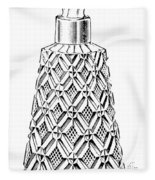 Glass Bottle, 1895 Fleece Blanket