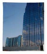 Glass Buildings Nashville Fleece Blanket