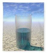 Glass Of Water Fleece Blanket