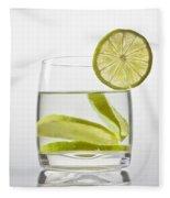 Glass With Lemonade Fleece Blanket by Joana Kruse