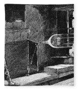 Glassworker, 19th Century Fleece Blanket