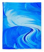 Glassworks In Blue Fleece Blanket