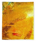 Glassworks Series-gold I Fleece Blanket