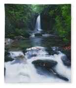 Glencar, Co Sligo, Ireland Waterfall Fleece Blanket