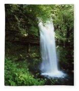 Glencar Waterfall, Yeats Country, Co Fleece Blanket
