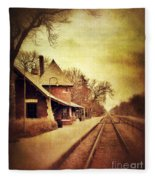 Glencoe Train Station Fleece Blanket