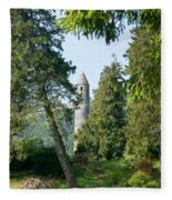 Glendalaugh Round Tower 11 Fleece Blanket