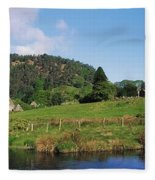 Glendalough, Co Wicklow, Ireland Saint Fleece Blanket