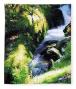 Glendalough, Co Wicklow, Ireland Fleece Blanket