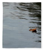 Gliding Across The Pond Fleece Blanket
