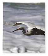 Gliding Snowy Egret Fleece Blanket
