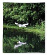 Gliding Through The Swamp Fleece Blanket