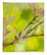 Glimpse Of Spring Fleece Blanket