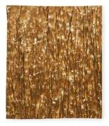 Glistening Gold Prairie Grass Abstract Fleece Blanket