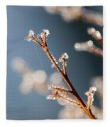 Glistening Ice Crystals Fleece Blanket