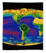 Global Biosphere Fleece Blanket