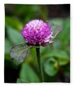 Globe Amaranth Bicolor Rose Fleece Blanket