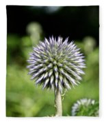 Globe Thistle Fleece Blanket
