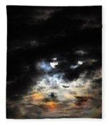 Glorious Gibbous - Wide Version Fleece Blanket
