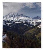 Glorious Mount Rainier Fleece Blanket