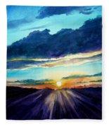 Glory Of The Sunset 2 Fleece Blanket