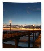 Glow On The Horizon Fleece Blanket