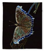 Glowing Butterfly Fleece Blanket