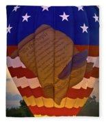 Glowing Constitution Fleece Blanket
