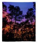 Glowing Forest Fleece Blanket
