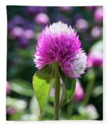 Glowing Globe Amaranth Fleece Blanket