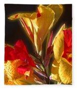 Glowing Iris Fleece Blanket