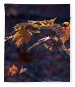 Glowing Maple Leaves Fleece Blanket