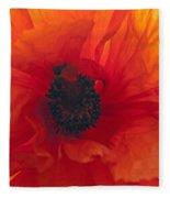 Glowing Poppy Fleece Blanket