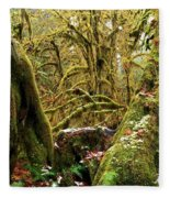 Gnomes In The Rainforest Fleece Blanket