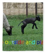 Go Outside And Play Rainbow Fleece Blanket
