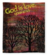 God Is Love Fleece Blanket