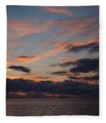 God's Evening Painting Fleece Blanket