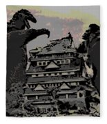 Godzilla And King Kong Hanging Out In Tokyo Fleece Blanket