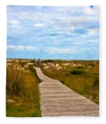 Going To The Beach Fleece Blanket