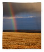 Gold At The End Of The Rainbow Fleece Blanket