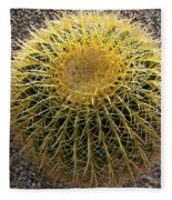 Gold Barrel Cactus   No 1 Fleece Blanket